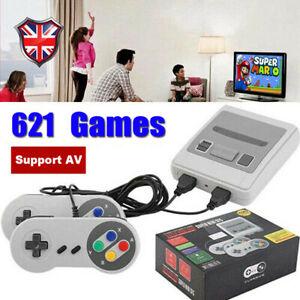 Built-in 621 Games in 1 Classic Mini TV Game Console Gamepads Retro 2 Players UK
