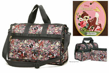 LeSportsac Disney Bambi & Friends Everyday Bag/Small Weekender Free Ship NWT