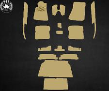 Teppichsatz für Mercedes R107 SL  17 Teilig Kunstleder , creme-beige