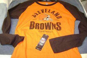 CLEVELAND  BROWNS LONG SLEEVE SHIRT YOUTH 18/20  XL  NEW  NFL  NICE L@@K