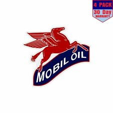 Vintage Mobile Oil Pegasus Formula1 4 Stickers 4x4 Inch Sticker Decal