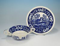"Spode ""Blue Tower"" Suppentasse & Untertasse"