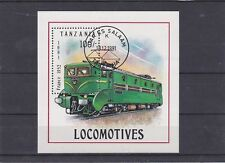 TANZANIE 1991 LOCOMOTIVES BLOC OBLITERE YT 140