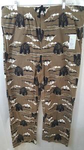 Croft & Barrow Black Bears Fleece Sleep Pants Lounge PJ Pajamas Size XL