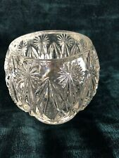 "Avon Crystal Floral Starburst and diamond shaped 4.5"" Votive Beautiful!"