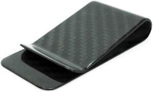 Bastion Carbon Fiber Money Clip Premium Pure 3K Black Cash Organizer TN03