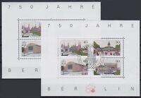 Berlin Block 8 2x, ** postfrisch u. TOP rund SST Berlin 750 Jahre Berlin 1987
