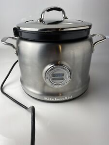 KitchenAid Stainless KMC4241 4-Quart Multi-Cooker With Tray and Lid Working