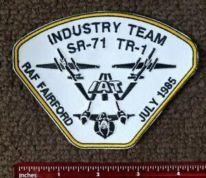 USAF LOCKHEED MARTIN SKUNK WORKS SR-71 TR-1 IAT RAF FAIRFORD Military Patch