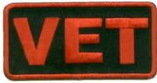Red Vet Patch Veteran Patch POW Embroidered Biker Patch Military Patch