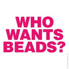 Who Wants Beads Decal Sticker Choose Color + Size #1243