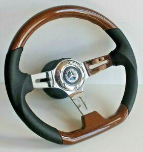 Steering Wheel fits Mercedes Benz Wood Flat W123 W124 W126 W201 R107 79-92'
