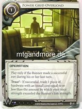 Android Netrunner LCG - 1x Power Grid Overload  #037 - Trace Amount