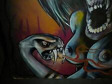 Serpent's Temptation Theme, Original Oil Painting. Very Large