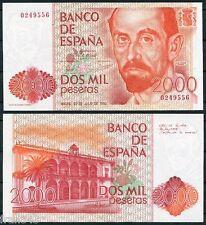 ESPAÑA SPAIN 2000 pesetas 1980 JUAN RAMON JIMENEZ  SIN SERIE Pick 159 SC / UNC