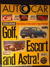AUTOCAR Magazine 30th July 1997 Golf,Escort,Astra