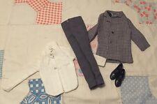 Vtg Barbie's Ken Doll Clothes Jacket / Coat, Pants, Shirt, Dress Shoes LOT