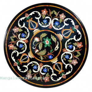 "30"" Marble coffee Table Top semi precious stones pietradura inlay Art Work"