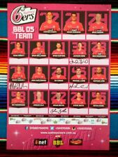 ✺Signed✺ 2015 2016 SYDNEY SIXERS Big Bash League Cricket Poster - 42cm x 29.5cm