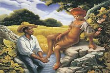 "DEVOTION ROMANTIC LOVE POSTER PRINT AFRICAN AMERICAN BLACK SOUTHERN ART 24""X36"""