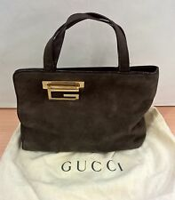 Borsa GUCCI Boutique in Camoscio pelle marrone Italy Originale