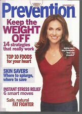 Prevention November 2004 Keep Weight Off/Foods For Your Heart/Instant Stress Rel