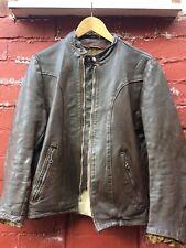 Vintage brown Schott cafe racer leather jacket