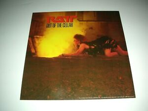 RATT Out Of The Cellar 1 Sided Promo 12x12 Poster Flat 1984 Mint-