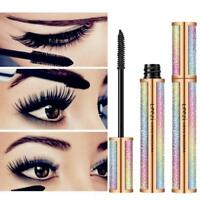 4D Silk Fiber Eyelash Mascara Lengthening Makeup Black Waterproof Eye Lashes Neu