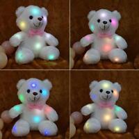 Hot Teddy LED Bär Kuscheltier Stofftier Nachtlicht Bunte Glühende Plüsch Tier