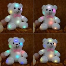 Teddy LED Bär Kuscheltier Stofftier Nachtlicht Bunte Glühende Plüsch Tier ;