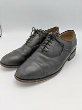 Florsheim Imperial Oxfords Shoes Lace Up Leather Black Cap Toe Mens 10D