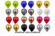 ROARING LION FASHION PREMIUM DUBRAES LUXURY METAL LACE LOCKS TAGS SHOE CHARMS
