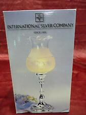 International Silver Company lace pattern electrical hurricane lamp home decor