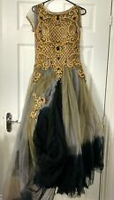 Lace Wedding Dress Races Gold Party Ball Gown Size 8 Vintage Prom Bridesmaid