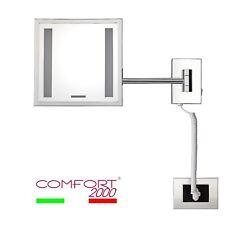 Specchio ingranditore da parete per trucco/barba con luce in ottone COMFORT2000