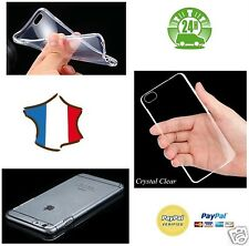 HOUSSE ETUI TRANSPARENT CRISTAL GEL SILICONE + FILM ECRAN POUR IPHONE 5S