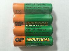 4pcs GP Industrial AA 1300mAh  NiMH Rechargeable Batteries