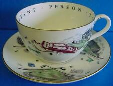 ROYAL WORCESTER VIP JUMBO CUP & SAUCER FAMOUS GOLF CLUBS - VERY IMPORTANT PERSON