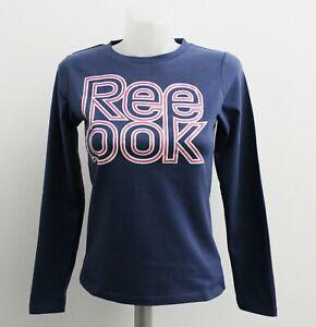 Reebok Kinder Mädchen Long Sleeve Shirt Langarm Shirt Blau Pink S49452 Neu