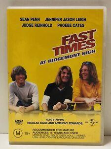 Fast Times At Ridgemont High (DVD,2014) - Region 4 - Sean Penn - Free Postage