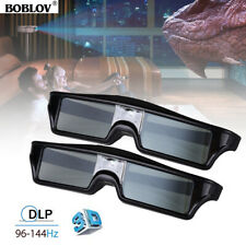 2X 8M 3D DLP-Link 144Hz Active Shutter Glasses Rechargeable Fr Optoma Projector