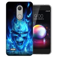 For LG K40 K12 Solo LTE Xpression Plus 2 Harmony 3 X4 Flaming Skull Case Cover