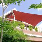 Square Rectangle Red Curve Sun Shade Sail Home Garden Pool Patio Canopy Pergola