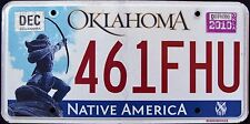 "OKLAHOMA "" NATIVE AMERICA - INDIAN - 461 FHU "" 2010 OK Graphic License Plate"