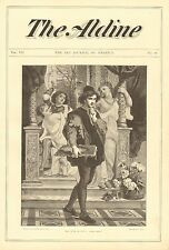 Artist, Distractions, The Path Of Duty, by Merle, Vintage 1875 Antique Art Print