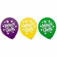 """Mardi Gras Helium Quality Latex Balloons 12"""" Assorted Colors 15 Ct"""