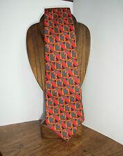 Christian Lacroix CRAVATTA SETA ROSSO-GRIGIO-Top-SILK TIE, RED-SILVER GREY design