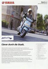 Prospekt 2010 Yamaha Neo's 4 Broschüre Motorroller brochure scooter Japan Asien