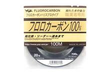 YGK 100% Fluorocarbon Leader Linea 100m Size 20 70lb 0.74mm (5709)